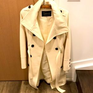 Guess white coat